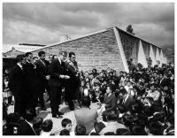 Inauguration of the construction of an eight classroom school. Photo: Armando Matíz, Ca, 1967